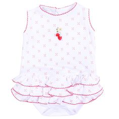 Magnolia Baby Strawberry Fields Embroidered Bubble