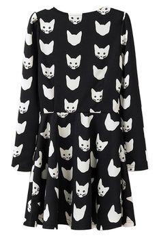 cat-long-sleeve-a-line-dress