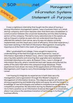 statement of purpose length