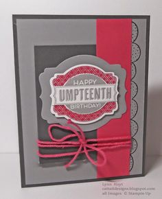 Cattail Designs: Stampin Up, Love the gray and pink.