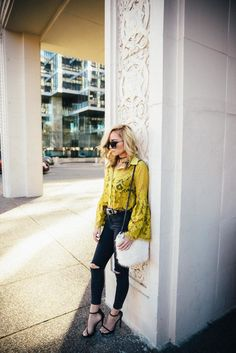Lace Bell Sleeve Top By Dallastyle Blog