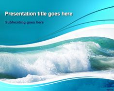 Ocean Waves PowerPoint Template