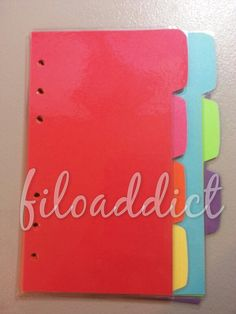 Rainbow Filofax Arc or Franklin Covey Dividers  7 by filoaddict, $10.00 Franklin Covey Planner, Best Planners, Dividers, Filofax, Rainbow, Organization, How To Plan, Unique Jewelry, Handmade Gifts