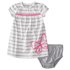JUST ONE YOU Made by Carters ® Infant Girls Butterfly Dress - Grey/White/Pink