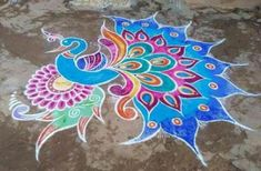 New year special kolam😍 Rangoli Designs Simple Diwali, Rangoli Designs Latest, Rangoli Designs Flower, Colorful Rangoli Designs, Rangoli Ideas, Rangoli Designs Images, Beautiful Rangoli Designs, Simple Rangoli, Sanskar Bharti Rangoli Designs