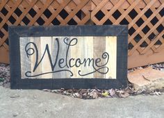 """Welcome"" Sign Framed"