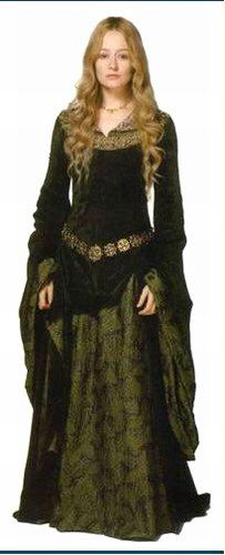 Eowyn' green dress in Lord of the Rings
