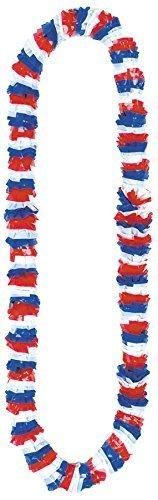 """Amscan 4th of July Party Polyester Lei Accessory (12 Piece) Red/White/Blue 13.1 x 8.75"""""""