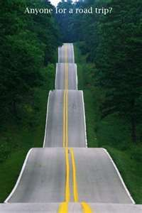 I loved roads that made my stomach go up and down.