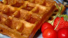The yeast in these eggy waffles makes for exceptionally deep pockets, perfect for capturing melting butter and syrups.