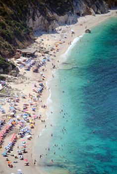 GREECE – An older picture of Petani Beach, Paliki peninsula, Cephalonia (Kefallinia) Island, Ionian Islands. This beach is located at the end of the switchback road from eparchiaki odos Vilatorion. Monuments, Places To Travel, Places To Visit, Cities, White Sand Beach, Greece Travel, Travel Europe, Vacation Destinations, Dream Vacations