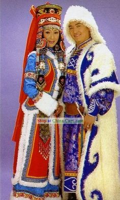 Image detail for -Chinese Traditional Mongolian Costume for Bride and Bridegroom