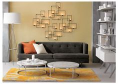 we have a gray sofa, i think yellow would like great on our walls!