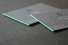 Cool Edgepainted Business Cards - The Ubiquitous