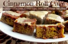 Cinnamon Roll Cake  @Eva S. Kisses and Dirty Dishes