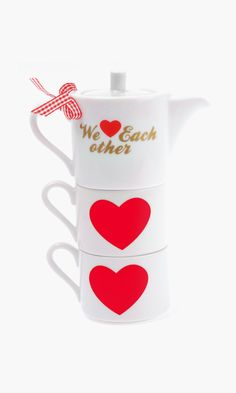 """We Love Each Other"" Stackable Teapot"