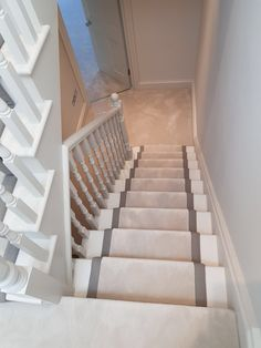 Installing Van Besouw Carpet to Stairs in West London: #carpet #stairs #interior #homedecor