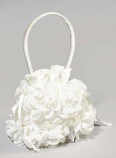 Flower Girl Ivory Rose Bud Bag - BHS