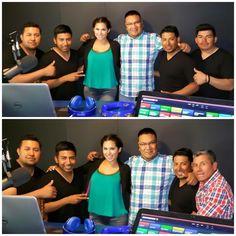 Grupo Incansable con La Muñeca y El Compa Mike en la cabina de La Plebada Network