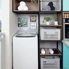Home Decoration Inspiration Product Laundry Nook, Small Laundry Rooms, Laundry Room Organization, Laundry Room Design, Home Accessories, Like4like, Sweet Home, New Homes, Home Appliances
