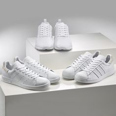 Triple White is everything ... ZX Flux, Stan Smith, Superstar 80s by adidas Originals ! Check miadidas.com