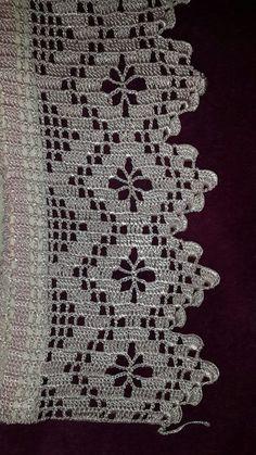 Crochet doilies diagram haken 57 ideas for 2019 Crochet Boarders, Crochet Edging Patterns, Crochet Lace Edging, Crochet Squares, Crochet Trim, Crochet Doilies, Easy Crochet, Flower Patterns, Crochet Stitches