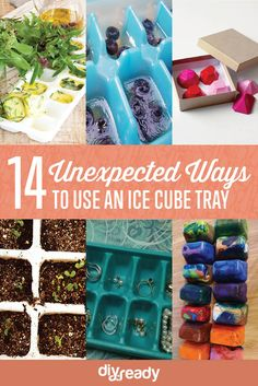 14 Unexpected Ways to Use an Ice Cube Tray by DIY Ready at  http://diyready.com/14-unexpected-ways-to-use-an-ice-cube-tray/