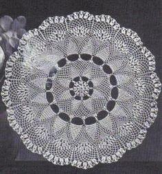 free crochet heather hill doily pattern