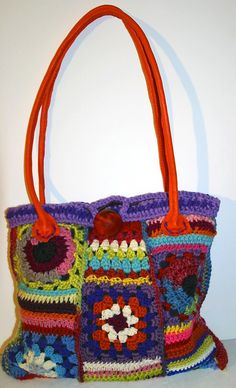Granny square hand bag