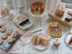 Miniature Shabby Cottage Kitchen Island- LOVE!