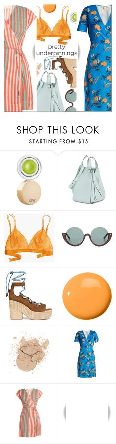 """The Prettiest Underpinnings"" by ansev ❤ liked on Polyvore featuring tarte, Loewe, Madewell, Marni, Tory Burch, JINsoon, Diane Von Furstenberg, WALL and prettyunderpinnings"