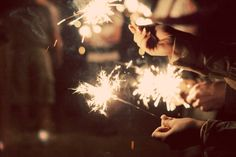 Sparklers, while we dance.