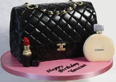 Chanel Purse with Parfume and Lipstick - cake by kingfisher