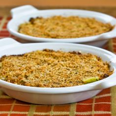 Recipe for Baked Artichoke Hearts Au Gratin with Green Onion, Parmesan, and Romano from Kalyn's Kitchen  #SouthBeachDietRecipes #LowGlycemicRecipes