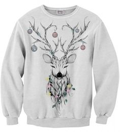 Bluza ze wzorem Reindeer sketch Miniatury 2
