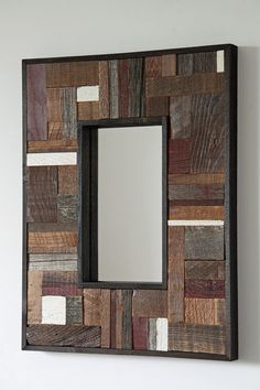 Your place to buy and sell all things handmade Pallet Mirror, Barn Wood Mirror, Reclaimed Wood Mirror, Rustic Mirrors, Reclaimed Wood Projects, Wooden Projects, Wood Crafts, Wooden Wall Art, Wooden Walls
