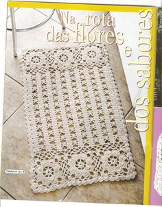 Crochê. Rug?! How about a doily, i'd trip on it if it was on the floor!