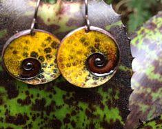 Multicolor Butterflies Wings Earrings /Made of Enamel on