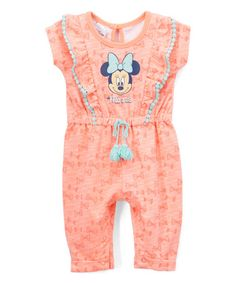 Look what I found on #zulily! Orange Minnie Mouse Bodysuit - Infant #zulilyfinds