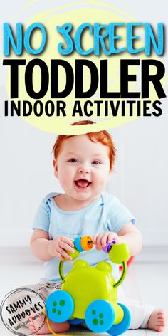 Your toddler will be busy all day with these screen free kids activities perfect for indoors or outdoors. Easy activities for busy moms! Indoor Activities For Toddlers, Educational Games For Kids, Infant Activities, Learning Activities, Summer Activities, Family Activities, Outdoor Activities, Toddler Play, Toddler Snacks
