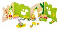 Our Forest House Wooden Toy - We are the UK's online retailer of natural wooden toys. Possibly the perfect children's antidote for the iPad and iPhone. Building A Tiny House, Small World Play, Forest House, Wooden House, Landscape Illustration, Wood Toys, Minion, Goku, Natural Wood