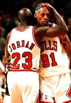 Michael Jordan & Dennis Rodman