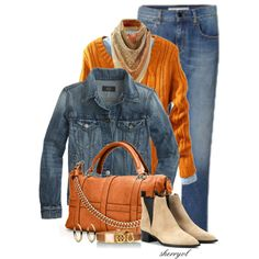 Denim Jacket And Scarf Contest, created by sherryvl on Polyvore