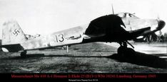 Messerschmitt Me 410A-1 'black 13' (WNr 10241) of 2/EKdo 25, Lüneburg, 1943. Black 13, Luftwaffe, Nike Logo, Logos, Air Force, Logo