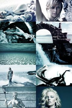 Charlize Theron as Amphitrite: queen of the sea