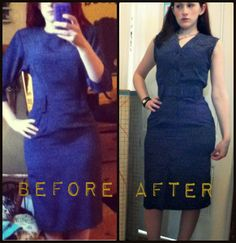 Craft, Thrift, or Die: Turn around...backwards dress refashion