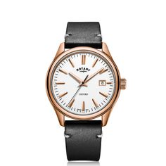Rotary, Stainless Steel Case, Rose Gold Plates, Fathers Day Gifts, Oxford, Black Leather, Quartz, Watches, Gift Guide