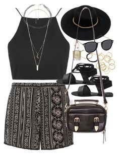 """Outfit for a festival"" by ferned on Polyvore featuring Dorothy Perkins, Topshop, Charlotte Russe, Forever 21 and MINKPINK"