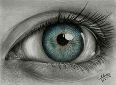 Olho desenhado