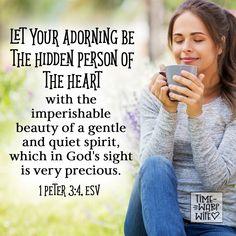 1 Peter 3:4 - #christianity #christian #bible #faith #jesuschrist #God #love #christianencouragement #truth #biblestudy